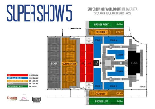 SS5 Price List and Seat Plan